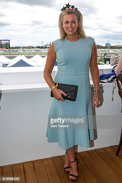 Samantha Armytage poses at the Emirates Marquee on Melbourne Cup Day at Flemington Racecourse on November 1 2016 in Melbourne Australia