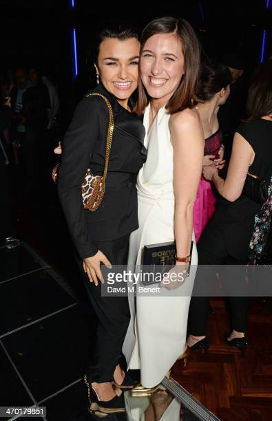 Samantha Barks and Emilia Wickstead attend the Elle Style Awards 2014 after party at One Embankment on February 18 2014 in London England