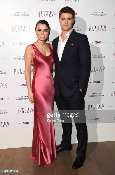 Samantha Barks and Max Irons attend the gala screening of 'Bitter Harvest' at the Ham Yard Hotel on February 20 2017 in London United Kingdom