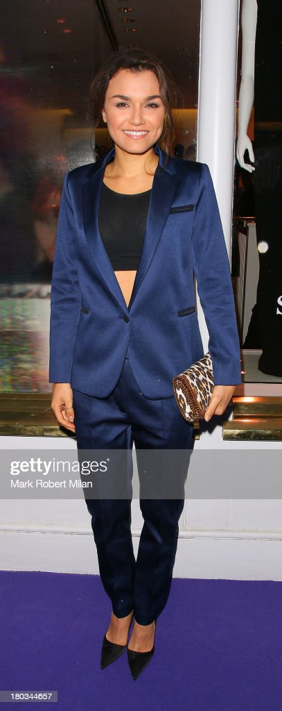 <a gi-track='captionPersonalityLinkClicked' href=/galleries/search?phrase=Samantha+Barks&family=editorial&specificpeople=7061893 ng-click='$event.stopPropagation()'>Samantha Barks</a> attending the Sandro flagship store launch party on September 11, 2013 in London, England.