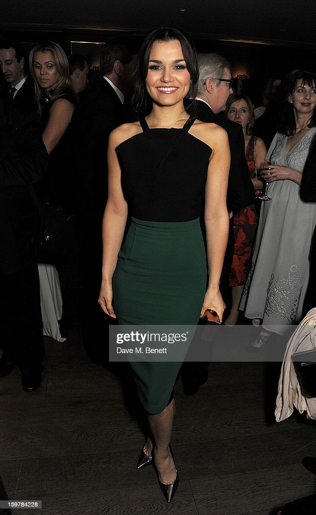 <a gi-track='captionPersonalityLinkClicked' href=/galleries/search?phrase=Samantha+Barks&family=editorial&specificpeople=7061893 ng-click='$event.stopPropagation()'>Samantha Barks</a> attends an after party following the London Critics Circle Film Awards at Quince Restaurant, The May Fair Hotel on January 20, 2013 in London, England.