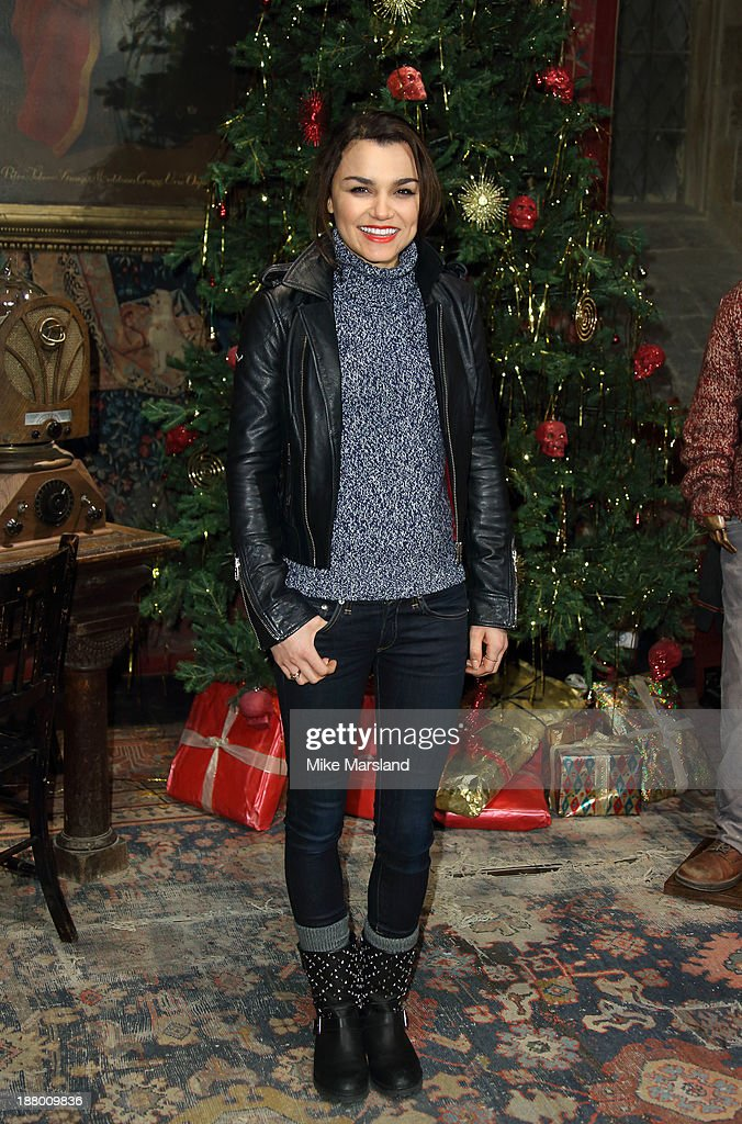 <a gi-track='captionPersonalityLinkClicked' href=/galleries/search?phrase=Samantha+Barks&family=editorial&specificpeople=7061893 ng-click='$event.stopPropagation()'>Samantha Barks</a> attends Hogwarts In The Snow VIP Preview at Warner Bros Studios on November 14, 2013 in London, England.