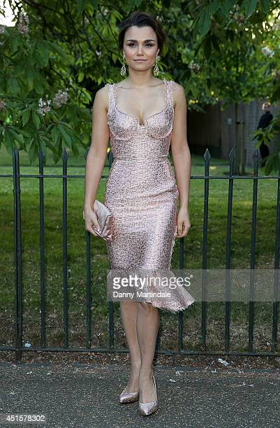 Samantha Barks attends the annual Serpentine Galley Summer Party at The Serpentine Gallery on July 1 2014 in London England