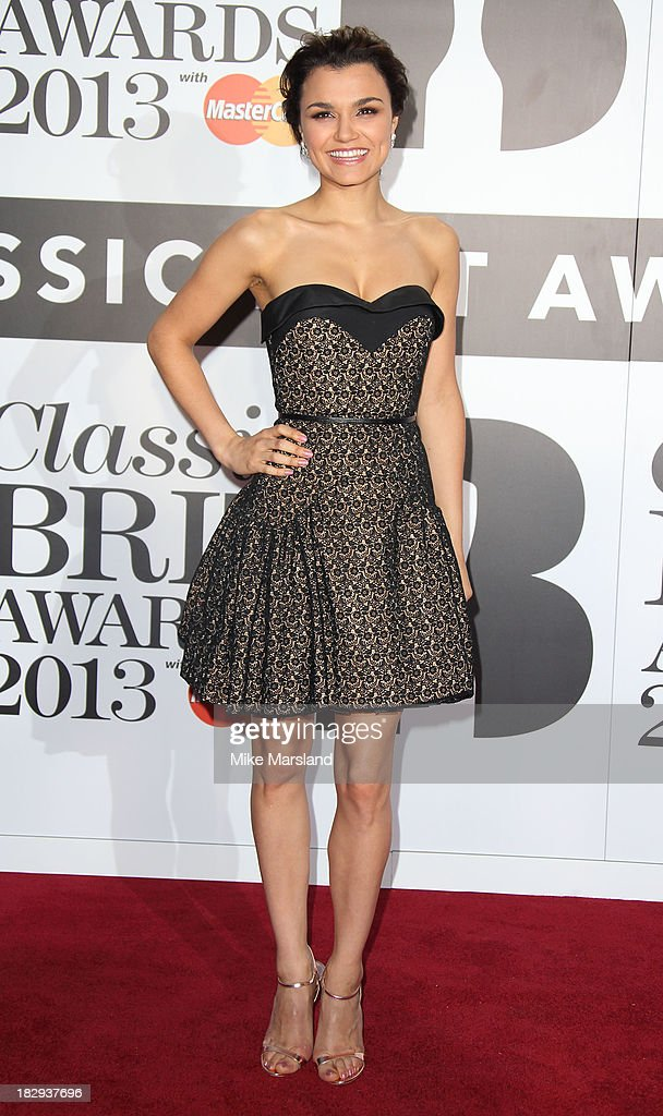 Samantha Barks attends the Classic BRIT Awards 2013 at Royal Albert Hall on October 2, 2013 in London, England.