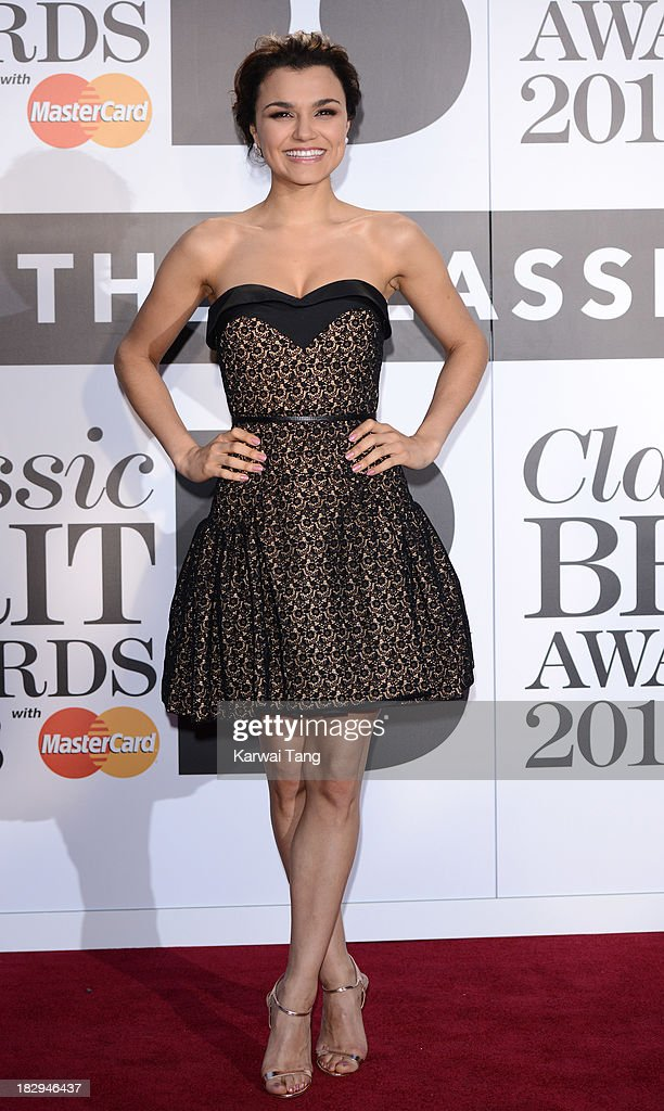 <a gi-track='captionPersonalityLinkClicked' href=/galleries/search?phrase=Samantha+Barks&family=editorial&specificpeople=7061893 ng-click='$event.stopPropagation()'>Samantha Barks</a> attends the Classic BRIT Awards 2013 at Royal Albert Hall on October 2, 2013 in London, England.