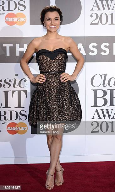 Samantha Barks attends the Classic BRIT Awards 2013 at Royal Albert Hall on October 2 2013 in London England