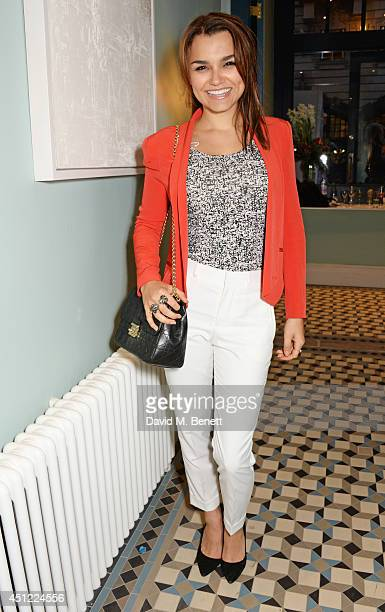 Samantha Barks attends the grand opening of LIBRARY on June 25 2014 in London England
