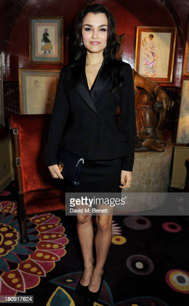Samantha Barks attends the Harper's Bazaar London Fashion Week SS14 closing party at Annabel's on September 17 2013 in London England