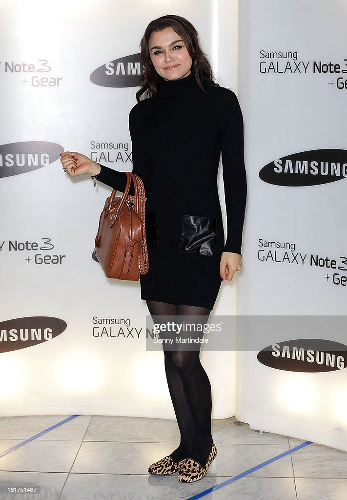 Samantha Barks attends the launch of Samsung's Galaxy Gear and Galaxy Note 3 at ME Hotel on September 24, 2013 in London, England.