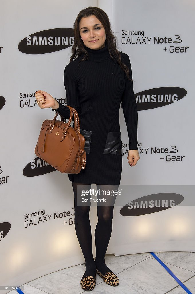 Samantha Barks attends the launch of Samsung's Galaxy Gear and Galaxy Note 3 at ME Hotel on September 24 2013 in London England