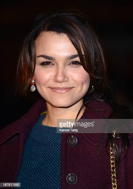 Samantha Barks attends the launch of Skate at Somerset House on November 13 2013 in London England