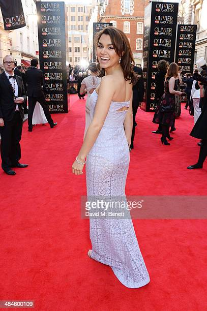 Samantha Barks attends the Laurence Olivier Awards at The Royal Opera House on April 13 2014 in London England