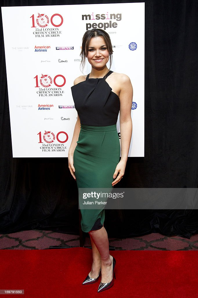 <a gi-track='captionPersonalityLinkClicked' href=/galleries/search?phrase=Samantha+Barks&family=editorial&specificpeople=7061893 ng-click='$event.stopPropagation()'>Samantha Barks</a>, attends the London Critics Circle Film Awards, at The Mayfair Hotel on January 20, 2013 in London, England.