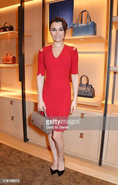 Samantha Barks attends the Moynat London boutique opening on March 12 2014 in London England