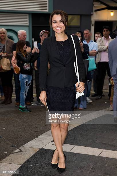 Samantha Barks attends the press night for 'The Curious Incident Of The Dog In The NightTime' at Gielgud Theatre on July 8 2014 in London England