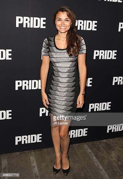Samantha Barks attends the 'Pride' Los Angeles special screening on September 23 in Beverly Hills California