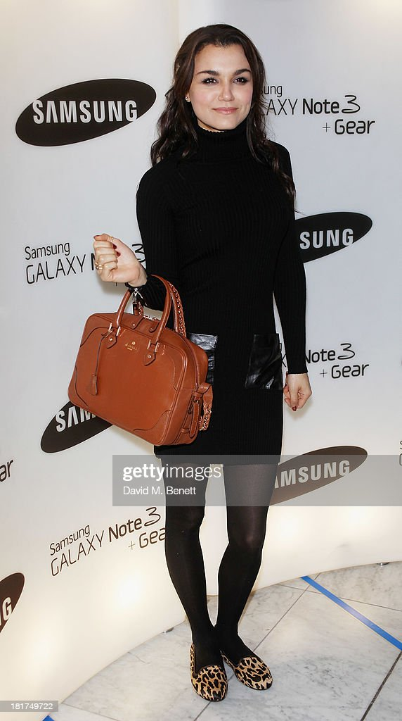 Samantha Barks attends the Samsung Galaxy Gear and Note 3 launch event at the Radio Rooftop Bar, Hotel Me London on September 24, 2013 in London, England.