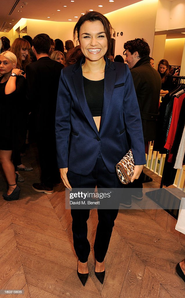 Samantha Barks attends the Sandro London flagship store launch in Covent Garden on September 11, 2013 in London, England.