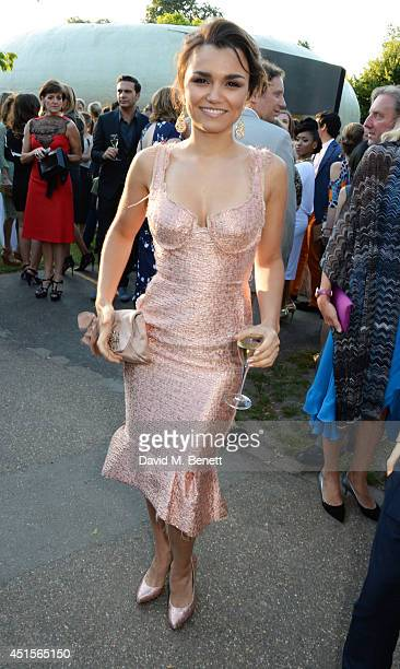 Samantha Barks attends The Serpentine Gallery Summer Party cohosted by Brioni at The Serpentine Gallery on July 1 2014 in London England