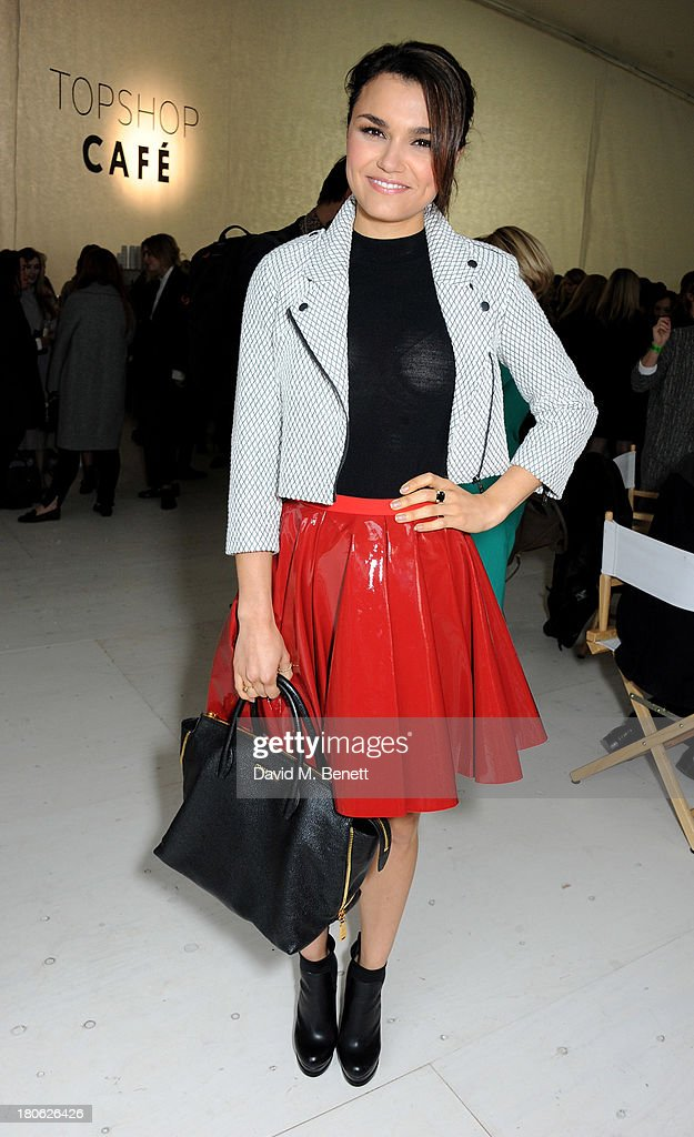 Samantha Barks attends the Unique SS14 show during London Fashion Week on September 15, 2013 in London, England.