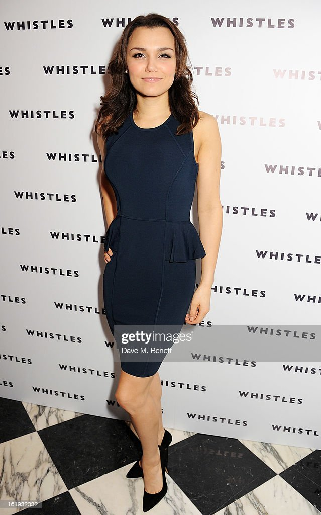 Samantha Barks attends the Whistles Limited Edition Autumn/Winter 2013 Collection party at The Arts Club on February 17, 2013 in London, England.