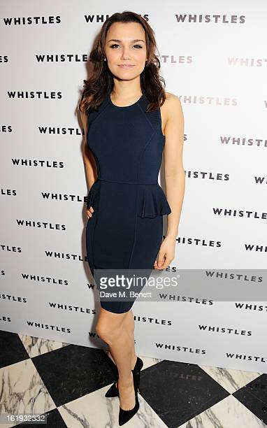 Samantha Barks attends the Whistles Limited Edition Autumn/Winter 2013 Collection party at The Arts Club on February 17 2013 in London England