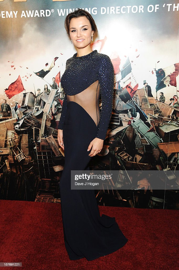 Samantha Barks attends the world premiere after party for Les Miserables at The Odeon Leicester Square on December 5, 2012 in London, England.