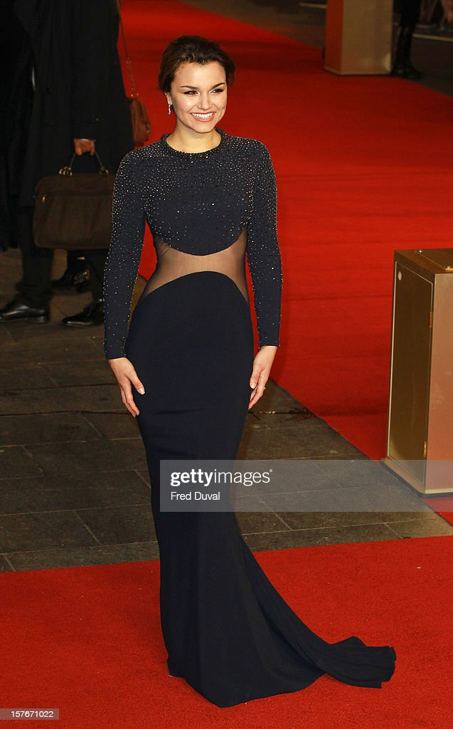 Samantha Barks attends the World Premiere of 'Les Miserables' at Odeon Leicester Square on December 5, 2012 in London, England.