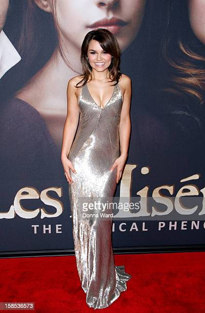 Samantha Barks attends the world premiere of 'Les Miserables' at Ziegfeld Theatre on December 10 2012 in New York City