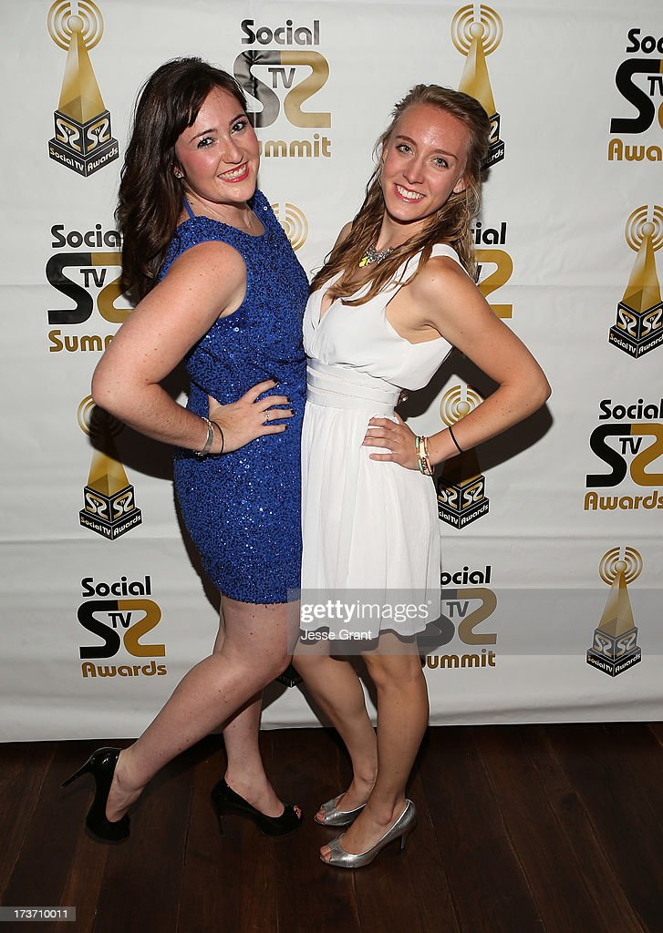 Samantha Batkin and guest attend the 2nd Annual Social TV Awards at Bel-Air Country Club on July 16, 2013 in Los Angeles, California.