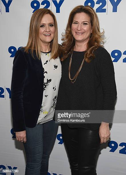 Samantha Bee and Ana Gasteter attend Samantha Bee In Conversation With Ana Gasteyer at 92nd Street Y on February 4 2016 in New York City