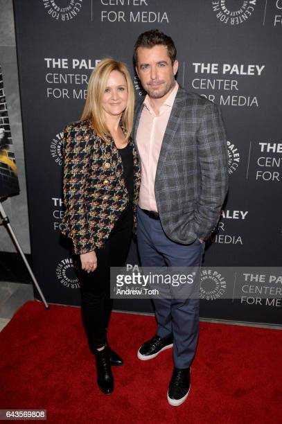 Samantha Bee and Jason Jones attend 'The Detour' season 2 screening at The Paley Center for Media on February 21 2017 in New York City