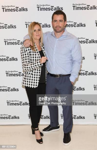 Samantha Bee and Jason Jones attend TimesTalks with Samantha Bee Jason Jones at New School's Tischman Auditorium on June 1 2017 in New York City