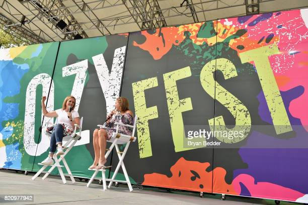 Samantha Bee and Katie Couric speak onstage during OZY FEST 2017 Presented By OZYcom at Rumsey Playfield on July 22 2017 in New York City
