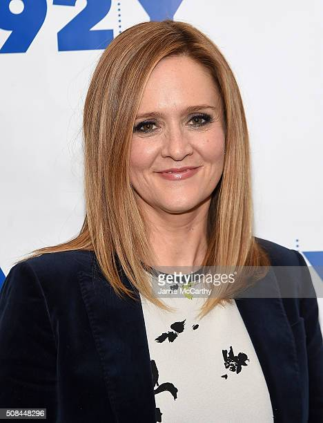 Samantha Bee attends 'Samantha Bee In Conversation With Ana Gasteyer' at 92nd Street Y on February 4 2016 in New York City