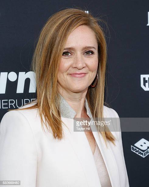 Samantha Bee attends the Turner Upfront 2016 arrivals at The Theater at Madison Square Garden on May 18 2016 in New York City