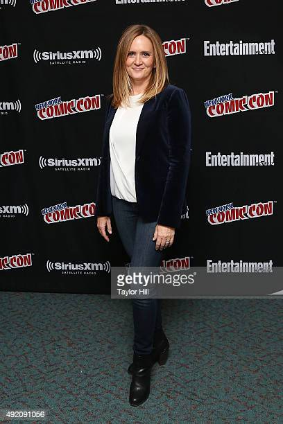 Samantha Bee visits the SiriusXM Studios during New York ComicCon at The Jacob K Javits Convention Center on October 9 2015 in New York City
