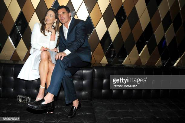 Samantha Boardman Rosen and Andre Balazs attend Party at WALL Hosted by VITO SCHNABEL STAVROS NIARCHOS ALEX DELLAL at WALL at the W SOUTH BEACH on...