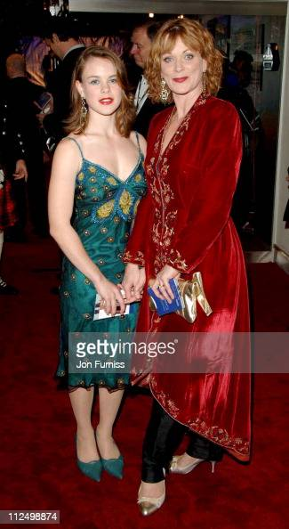 Samantha Bond and Guest during 'Casino Royale' World Premiere Inside Arrivals at Odeon Leicester Square in London Great Britain