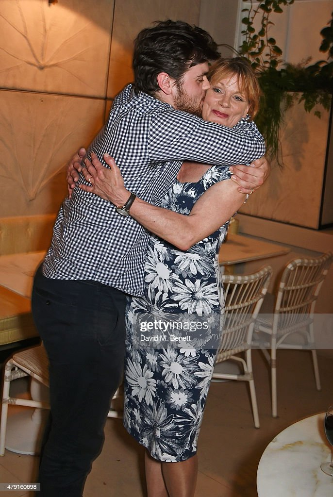 Samantha Bond and son Tom Hanson attend the after party following the press night performance of 'The Importance of Being Earnest' at the Spring at...