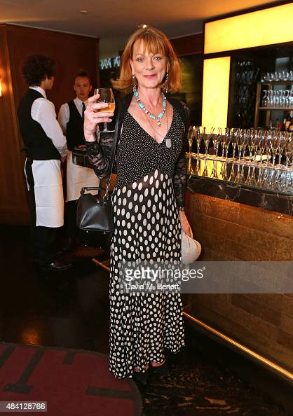 Samantha Bond attends the Downton Abbey wrap party at The Ivy on August 15 2015 in London England