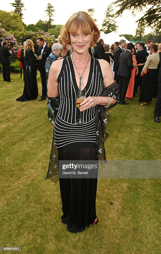 Samantha Bond attends the Duke of Edinburgh Award 60th Anniversary Diamonds are Forever Gala at Stoke Park on June 9 2016 in Guildford England