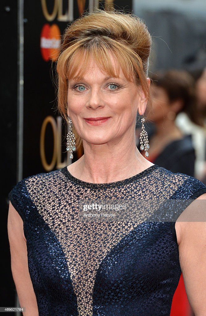 Samantha Bond attends The Olivier Awards at The Royal Opera House on April 12 2015 in London England