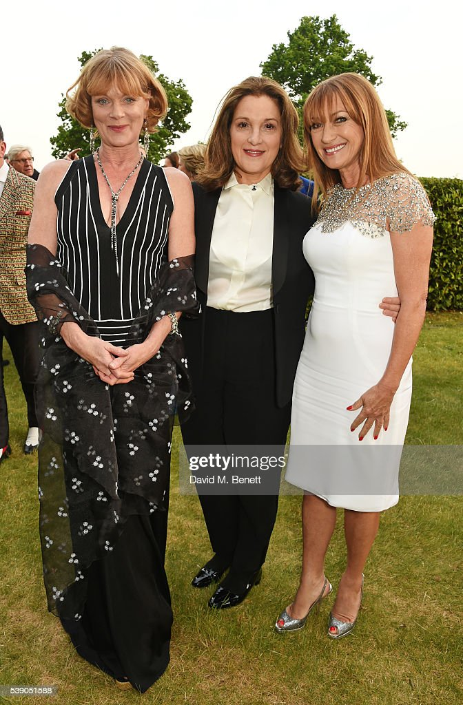 Samantha Bond Barbara Broccoli and Jane Seymour attend the Duke of Edinburgh Award 60th Anniversary Diamonds are Forever Gala at Stoke Park on June 9...