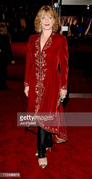 Samantha Bond during 'Casino Royale' World Premiere Inside Arrivals at Odeon Leicester Square in London Great Britain