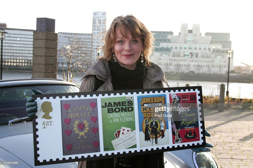 Samantha Bond launches Royal Mail's James Bond stamps at Millbank on January 7 2007 in London England