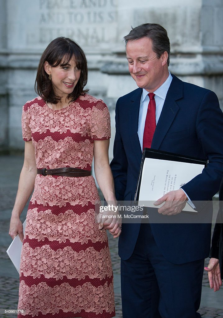 <a gi-track='captionPersonalityLinkClicked' href=/galleries/search?phrase=Samantha+Cameron&family=editorial&specificpeople=624344 ng-click='$event.stopPropagation()'>Samantha Cameron</a> and <a gi-track='captionPersonalityLinkClicked' href=/galleries/search?phrase=David+Cameron+-+Politician&family=editorial&specificpeople=227076 ng-click='$event.stopPropagation()'>David Cameron</a> attend Service on the eve of the centenary of the Battle of The Somme at Westminster Abbey on June 30, 2016 in London, England.