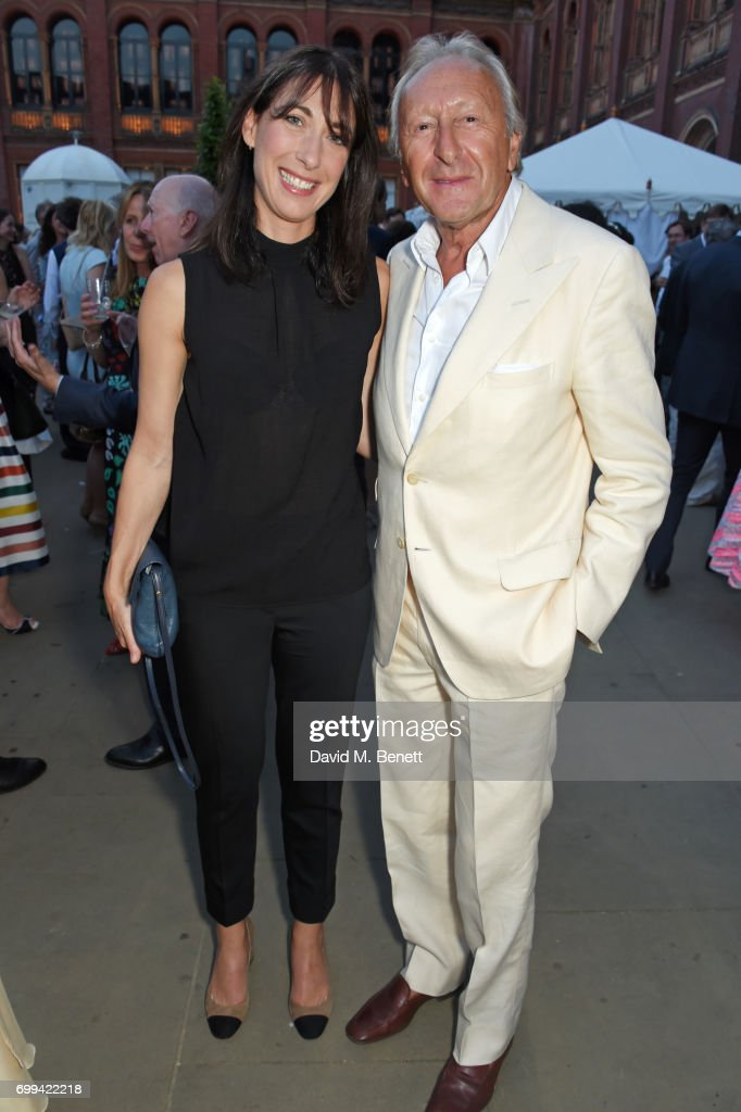 Samantha Cameron (L) and Harold Tillman attend the 2017 annual V&A Summer Party in partnership with Harrods at the Victoria and Albert Museum on June 21, 2017 in London, England.