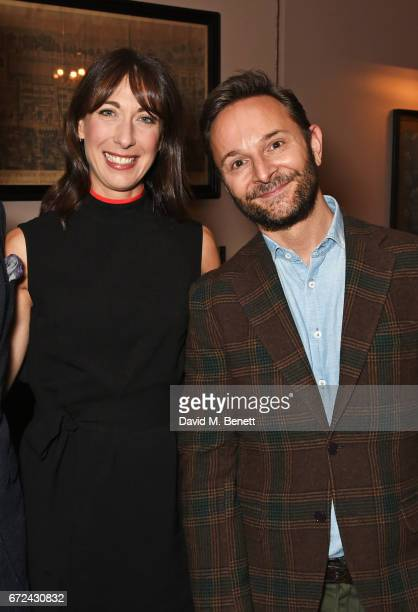 Samantha Cameron and Jeremy Langmead attend the NetaPorter Mr Porter preopening dinner cohosted by Jenny Dickinson and Jeremy Langmead in The Saloon...
