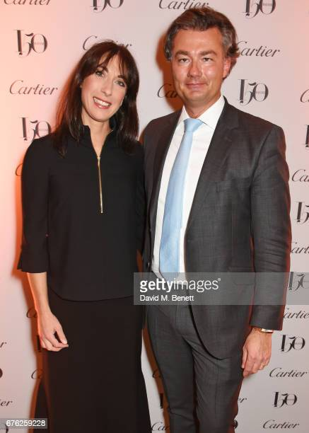 Samantha Cameron and Laurent Feniou attend the Harper's Bazaar 150th Anniversary Party at William Kent House at The Ritz on May 2 2017 in London...